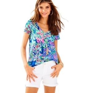 NWOT white Lilly Pulitzer South Ocean shorts, 0